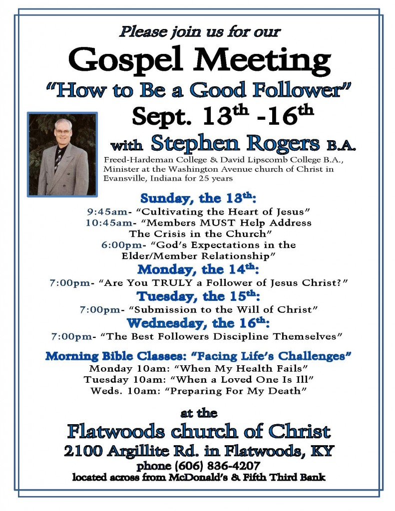 Rogers gospel meeting