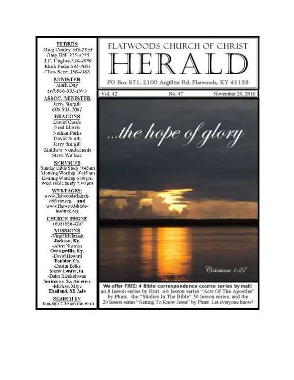the Herald bulletin November 20th edition