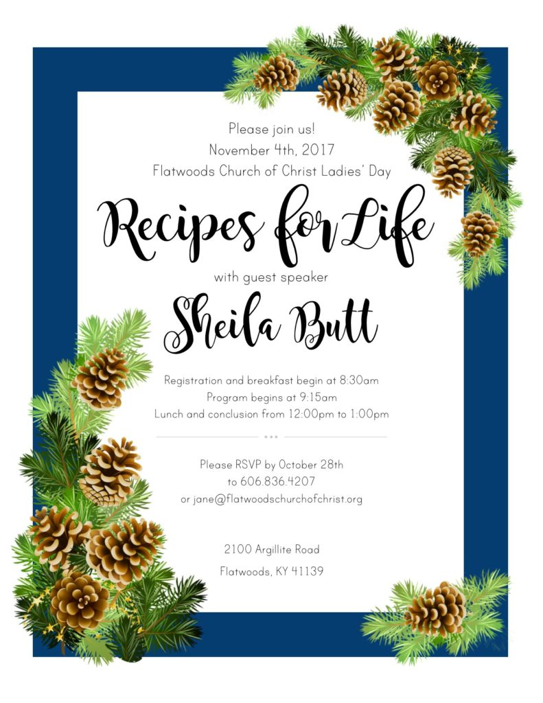 Recipes for Life with guest speaker Sheila Butt